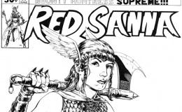 Red Sanna, comic book cover designed portrait