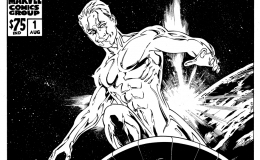 Silver Surfer, comic book cover designed portrait