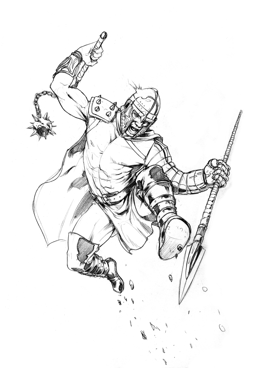 Gladiator, personal artwork, warming up sketch
