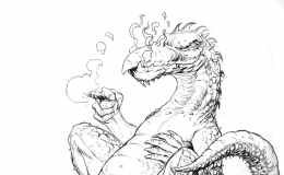 Dragons, The Natural Smokers, personal artwork