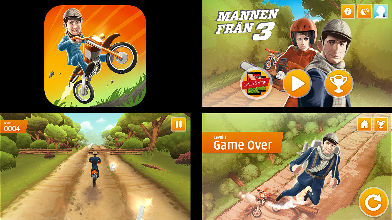 3 Moto, App Icon and In-game screenshots
