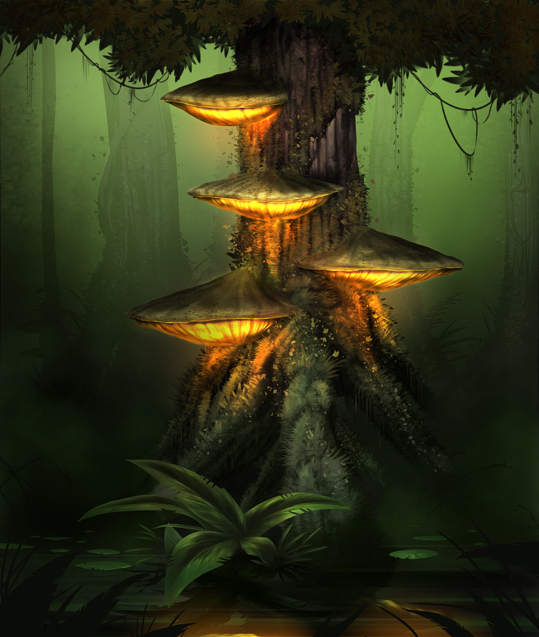 Luminous Fungus, concept art, personal work