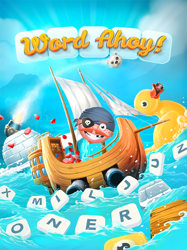 Word Ahoy! Splash Screen.
