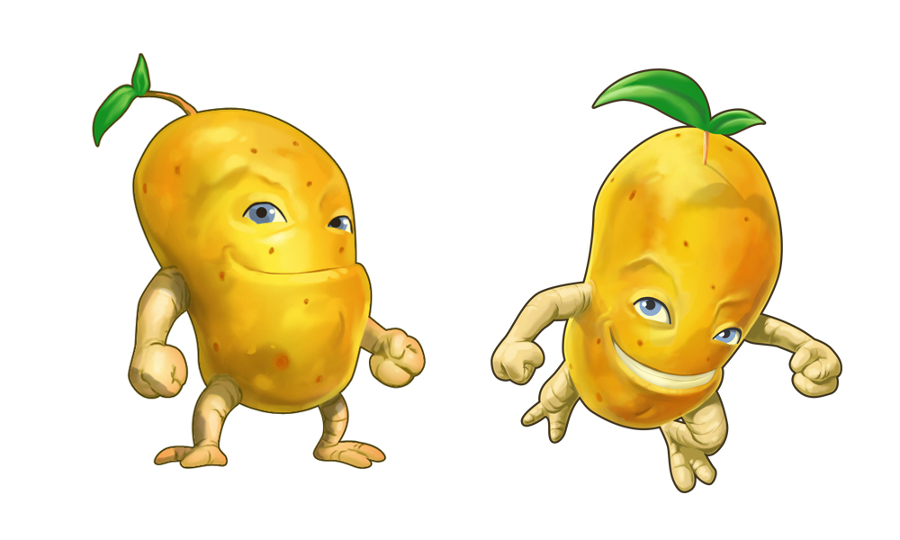 Zombie Potatoes Game, hero concepts