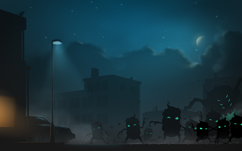 Zombie Potatoes Invasion Concept
