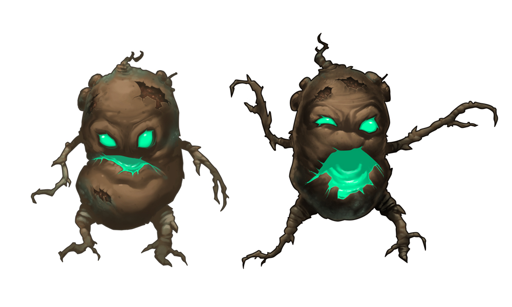 Zombie Potatoes Game, zombie concepts