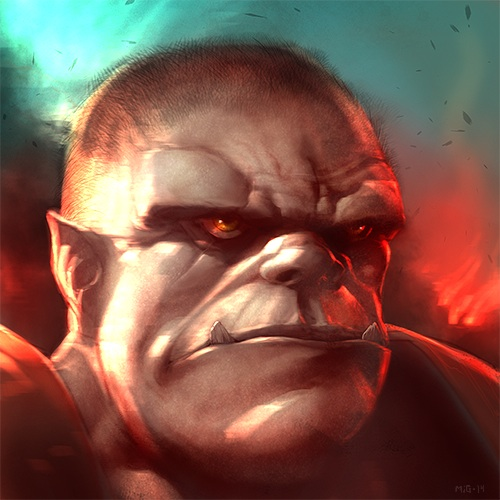 An Orc, just because they're cute. Personal work