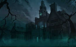 Haunted Mansion, Halloween contribution, personal work - Right+Click, open image in  a new tab to view full size