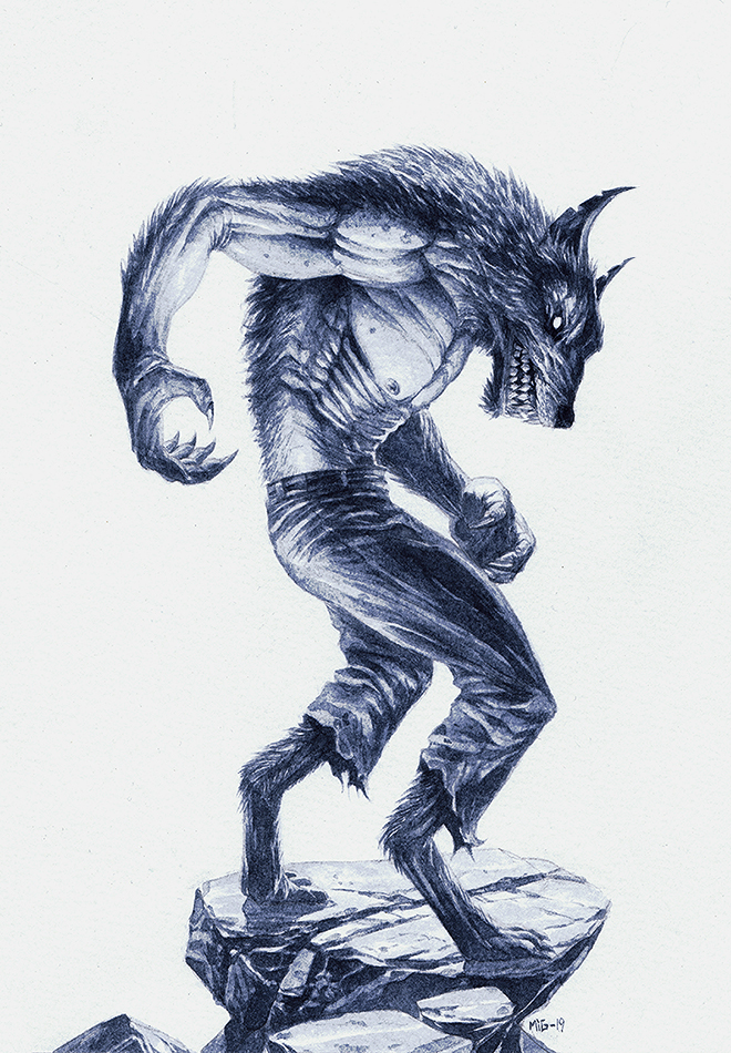 Werewolf, personal artwork