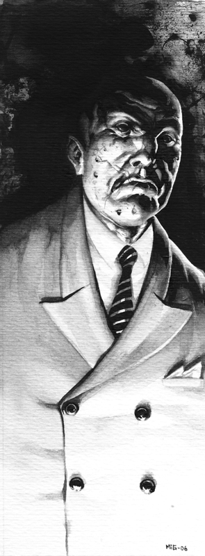 Hugo Gavilan, character illustration for the RPG Noir