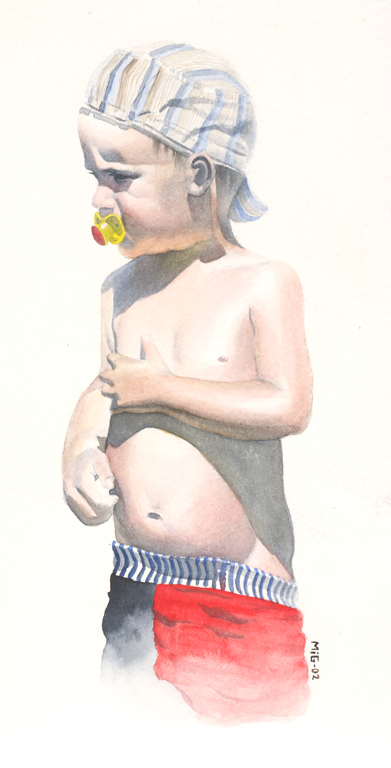 My Son, personal artwork, watercolor