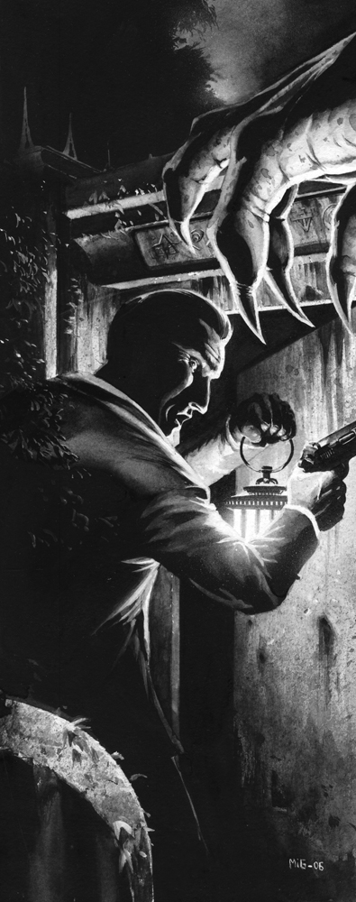 Shock, illustration for the Swedish RPG Noir