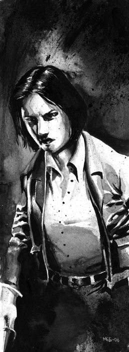 Jessica, character illustration for the Swedish RPG Noir