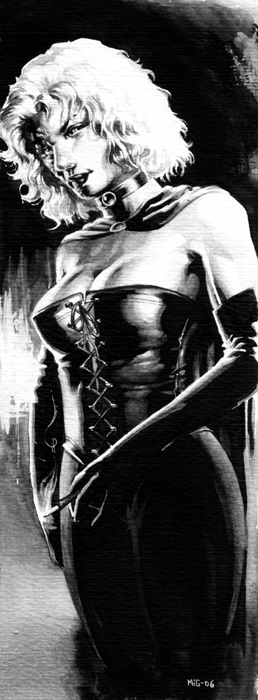 Raclia, character illustration for the Swedish RPG Noir