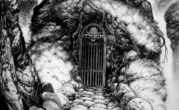 Gate of Bones, personal artwork turned illustration for Swedish RPG Eon