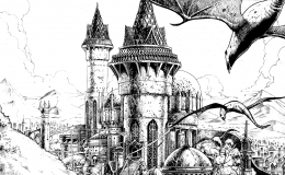 Fantasy City, personal artwork turned RPG-illustration - Right+Click, open image in  a new tab to view full size