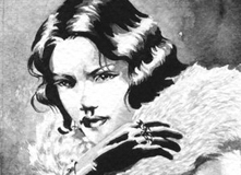 Glamour, illustration for the Swedish RPG Noir