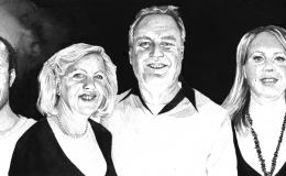 Maria and her family, portrait, commission
