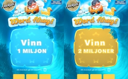 Word Ahoy! Lottery Tickets, purchasable in-game with the maximum winning pot of 2 million Swedish crowns.